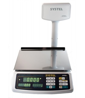 BALANZA COMERCIAL SYSTEL CROMA 31 KG. 31668 C/BAT.