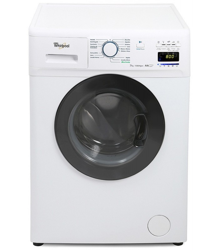 LAVARROPAS WHIRLPOOL WNQ 76A 7 KGS. C/FRO.1000 RPM PANEL ELECT.