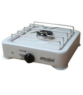 Anafe Brogas 8101 Gn Blanco 1 H. 1800 Kch C/valvula