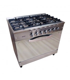Cocina Usman Semi Industrial 900 (319) Acero Parrillas Cromadas