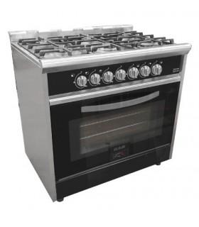 Cocina Usman Black Night 900 (7020) Acero/negro Vitrificada