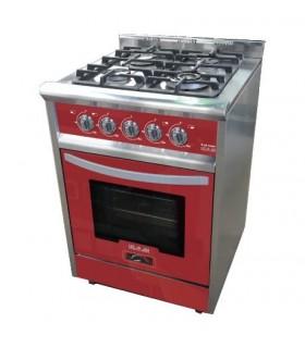 Cocina Usman Red Wine 600 (8010) Acero/rojo Vitrificada