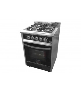 Cocina Usman Black Night 600 (701) Acero/negro Vitrificada