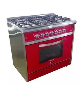 Cocina Usman Red Wine 900 (802) Acero/rjoo Vitrificada