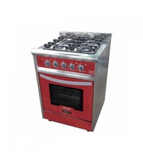 Cocina Usman Red Wine 600 (801) Acero/rojo Vitrificada