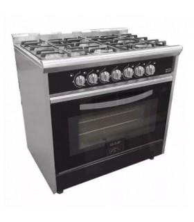 Cocina Usman Black Night 900 (702) Acero/negro Vitrificada