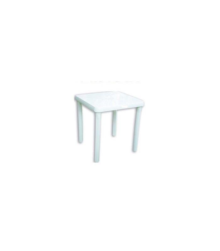 Mesa cuadrada garden life f402500 intima gastronomica apilable ama hogar - Mesas y sillas plastico ...