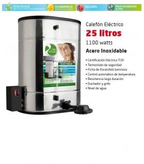 CALEFON ELECTRICO LINE HOUSE 25 LTS. ACERO