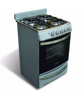 Cocina Electrolux Esbr856 Silver Doble Puerta