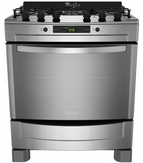 Cocina Whirlpool Wf976xcb Inox. Grill Electr.5 Horn. Doble Anillo