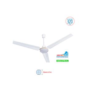 Ventilador De Techo Liliana Vthi500 Chapa S/luz 3 Palas Bco
