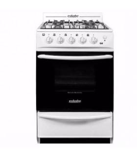 Cocina Eskabe C3 Bc G15 Gn 4 Hornallas Blanca 57 Cms