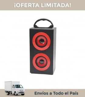 Parlantes Portatil Kazz Top Rojo Estacion Bluetooth Usb