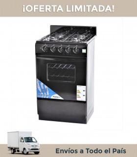 Cocina Milenium 520mn Gn 4h.acero/negra Con Visor