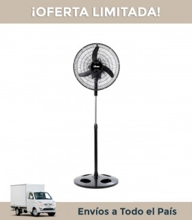 Ventilador De Pie Liliana Vprn 18 18 Palas Transparente