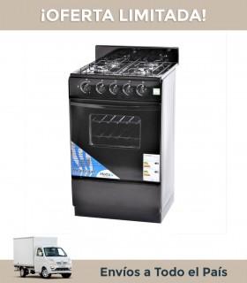 Cocina Milenium 520mn Ge 4h.acero/negra Con Visor