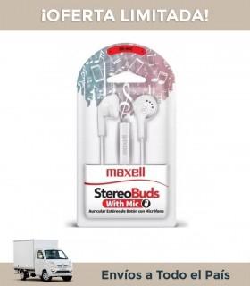 Auricular Maxell Eb-mic Blanco In Ear C/cable
