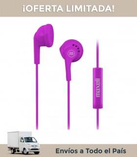 Auricular Maxell Eb-mic Violeta In Ear C/cable