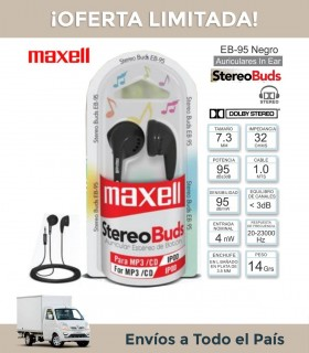 Auricular Maxell Eb-95 Negro In Ear C/cable