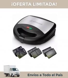 Sandwichera Ultracomb Sw-2801 3 En 1