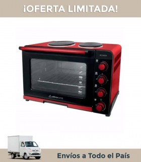 Horno Electrico Ultracomb Uc54ca Anafe Doble Rojo Y Negro 54lts. 3400w