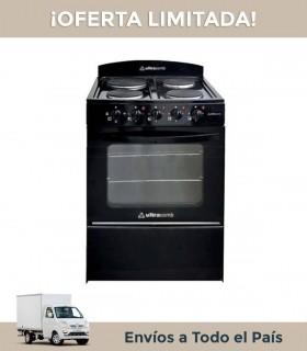 Cocina Electrica Ultracomb U56elen Negra 4 Placas 56