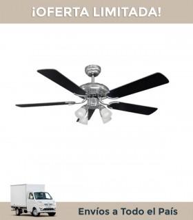 Ventilador De Techo Liliana Vthm410 5 Aspas Madera Reversible/negro/plata C/remoto
